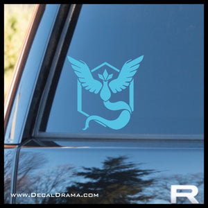 Team Mystic emblem Pokemon, PokemonGO Vinyl Car/Laptop Decal