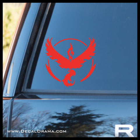 Team Valor emblem Pokemon, PokemonGO Vinyl Car/Laptop Decal