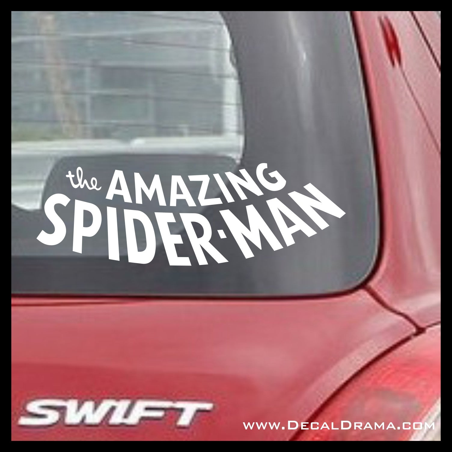 The Amazing Spider-man Classic Comic Book logo, Marvel Comics-inspired Vinyl Car/Laptop Decal