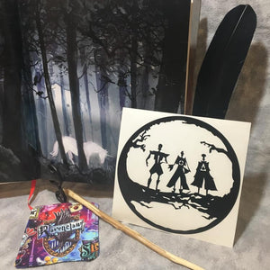 The Brothers and Their Prizes, vinyl decal inspired by The Tales of Beedle the Bard by JK Rowling