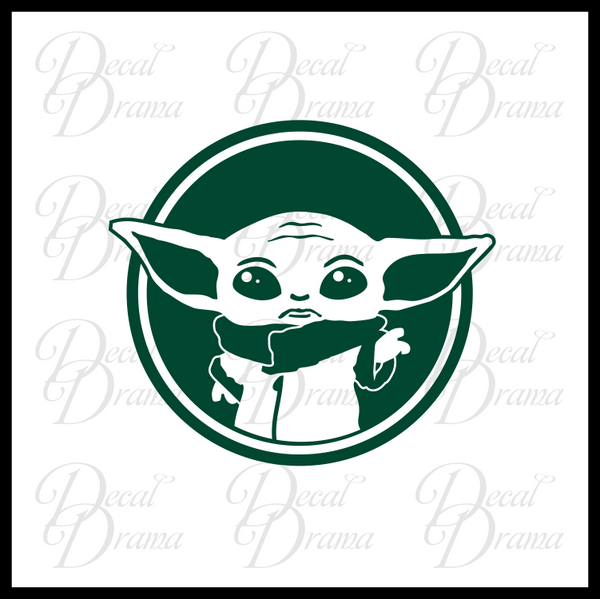 The Child Baby Yoda, Mandalorian-Inspired Fan Art Vinyl Wall Decal