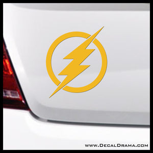 The Flash lightning emblem, DC Comics-inspired Justice League Fan Art Vinyl Car/Laptop Decal