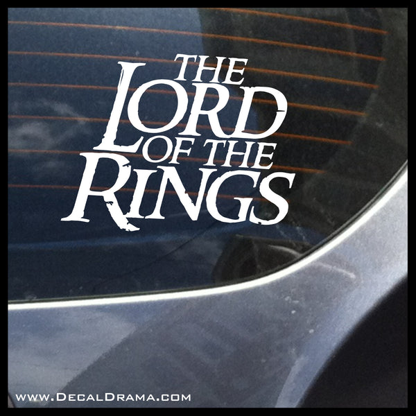 Lord of the Rings Title-Inspired Fan Art Vinyl Wall Decal