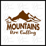 The Mountains Are Calling, Nature Calls Outdoor Motivation Vinyl Car/Laptop Decal