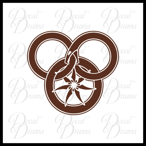 The Wheel and The Great Serpent, Wheel of Time-inspired Vinyl Car/Laptop Decal