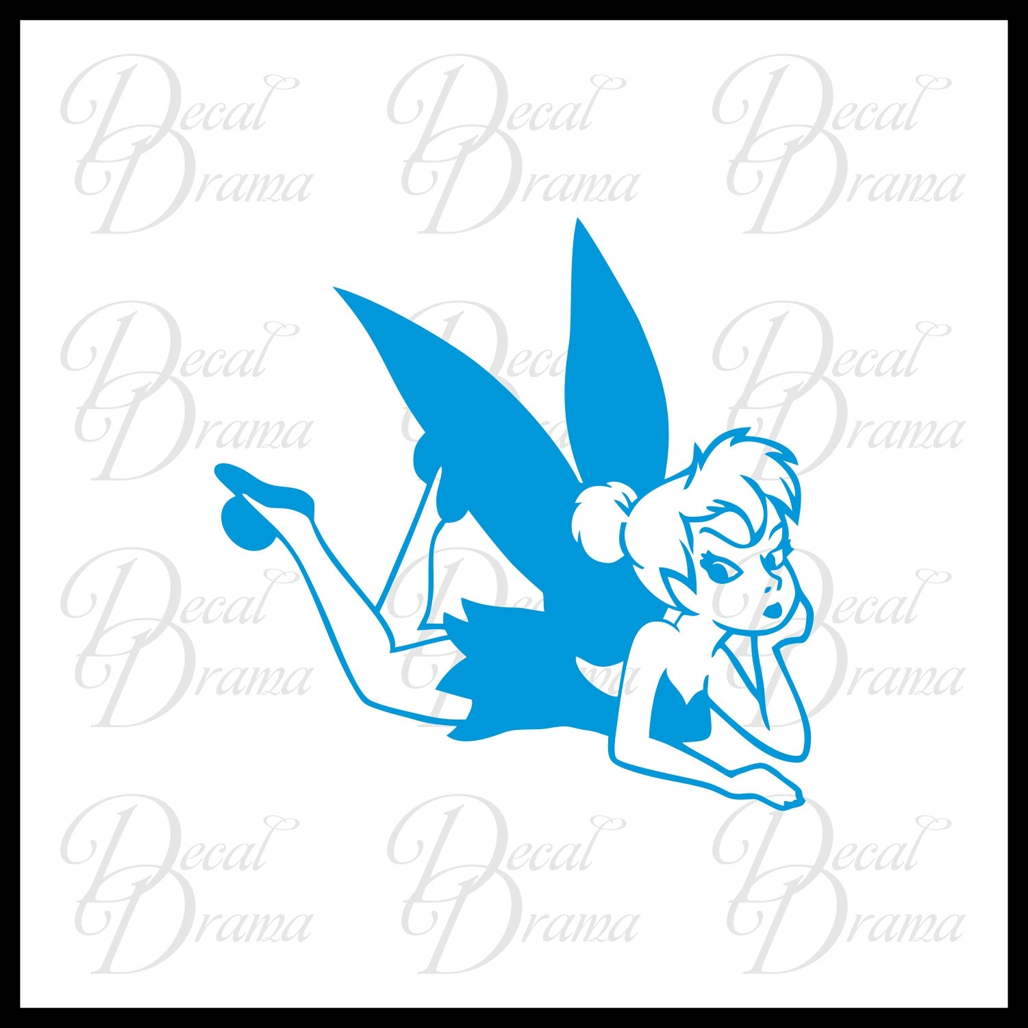 Tink-i-tude, Disney-inspired Fan Art Vinyl Car/Laptop Decal