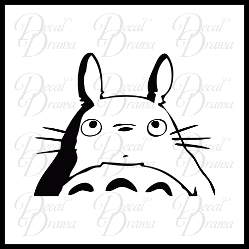Totoro Peeking, My Neighbor Totoro-inspired Vinyl Car/Laptop Decal