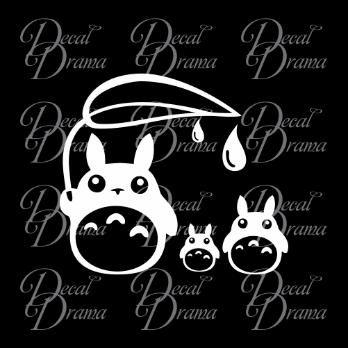 Totoro Rain Drops, My Neighbor Totoro-inspired Vinyl Car/Laptop Decal