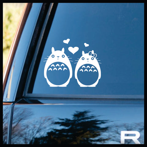 Totoro in Love, My Neighbor Totoro-inspired Vinyl Car/Laptop Decal