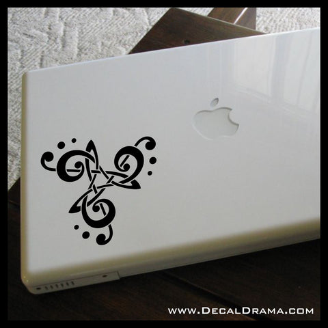 Treble Bass Clef Triskele interlacing Music symbol Vinyl Car/Laptop Decal