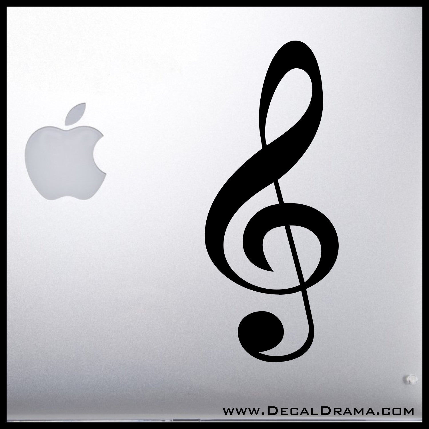 Treble Clef, Music symbol Vinyl Car/Laptop Decal