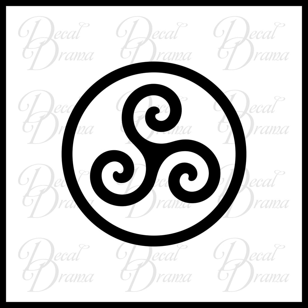 Druid Triskele Symbol Merlin Inspired Vinyl Carlaptop Decal