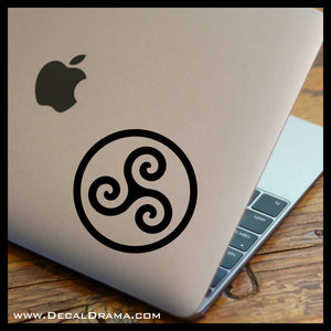 Triskele Alpha Beta Omega Teen Wolf-inspired Vinyl Car/Laptop Decal
