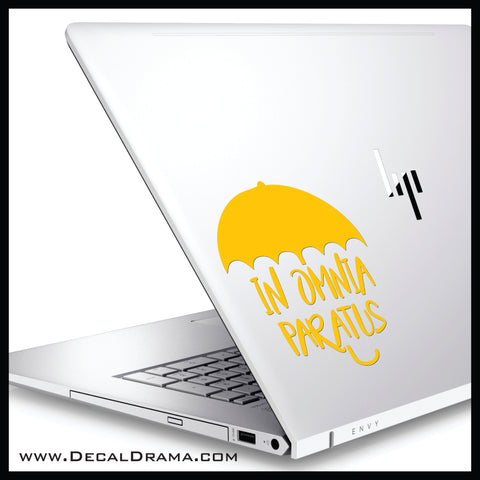 Umbrella In Omnia Paratus, Gilmore Girls-inspired Fan Art Vinyl Car/Laptop Decal