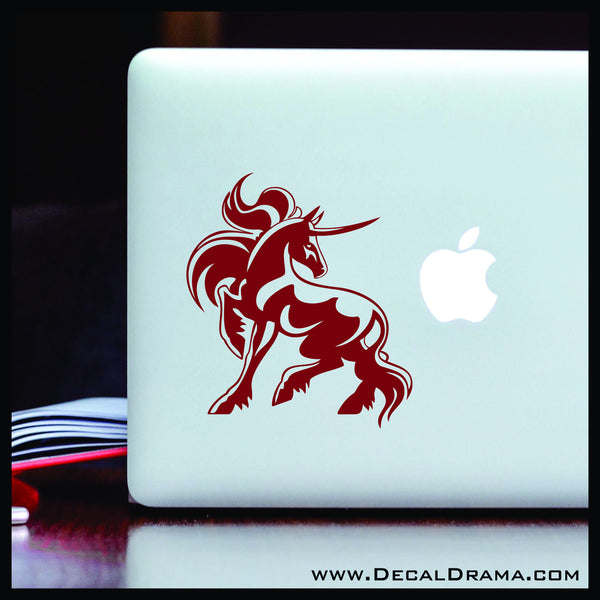 Majestic Fighter Unicorn Vinyl Car/Laptop Decal