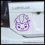 Ursula Chibi, Little Mermaid Villain, Vinyl Car/Laptop Decal