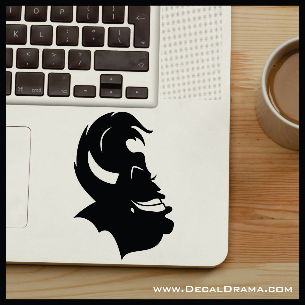 Ursula silhouette, Little Mermaid Villain, Vinyl Car/Laptop Decal