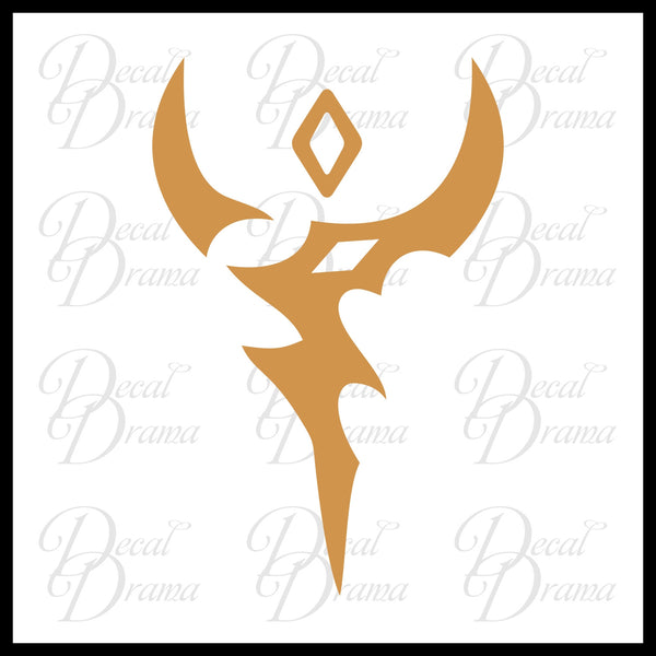 Vector chest emblem Yu-Gi-Oh Zexal-inspired Vinyl Car/Laptop Decal