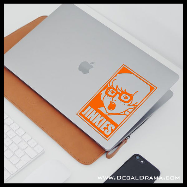 Velma Dinkley Jinkies, Mystery Incorporated, TV show Fan Art Vinyl Car/Laptop Decal
