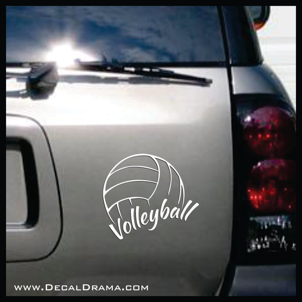 Volleyball Vinyl Car/Laptop Decal
