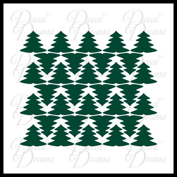 Pine Trees, Room Décor Vinyl Wall Decal