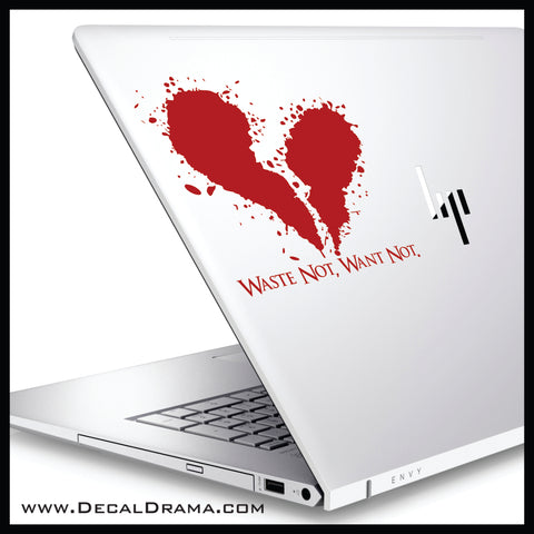 Waste Not Want Not, Sweeney Todd-inspired Vinyl Car/Laptop Decal