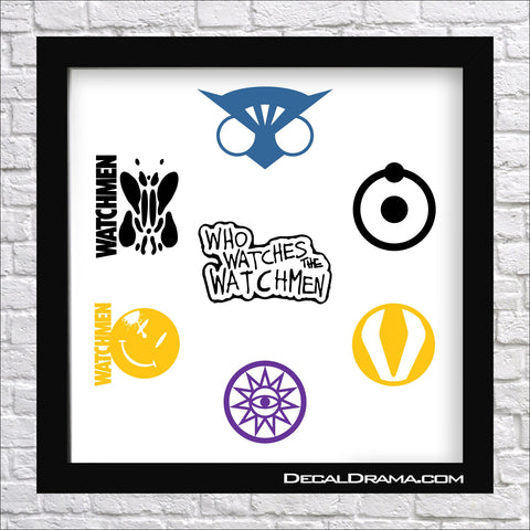 Watchmen emblems, DC Comics, Vinyl Car/Laptop Decal SET