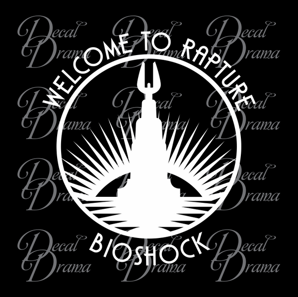 Welcome to Rapture, lighthouse, Bioshock-inspired Vinyl Decal
