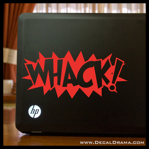 WHACK! Comic Book Exclamation Vinyl Car/Laptop Decal