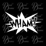WHAM! Comic Book Exclamation Vinyl Car/Laptop Decal