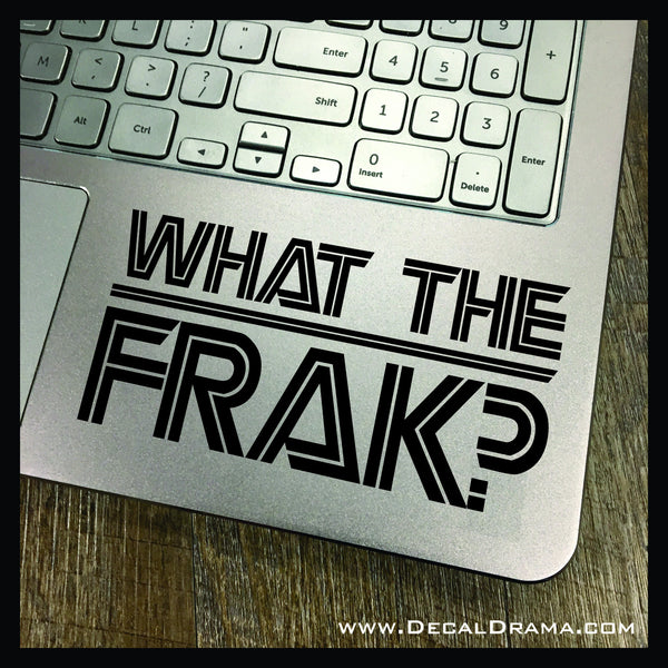 What the FRAK? Battlestar Galactica-inspired Vinyl Car/Laptop Decal