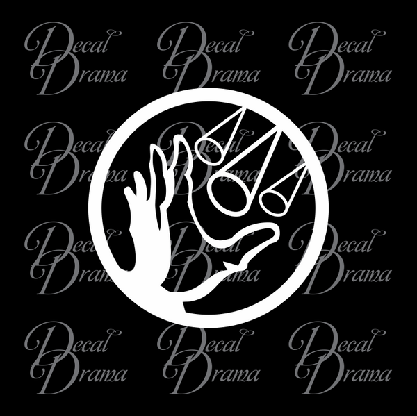 Winter Blast plasmid, Bioshock-inspired Vinyl Decal