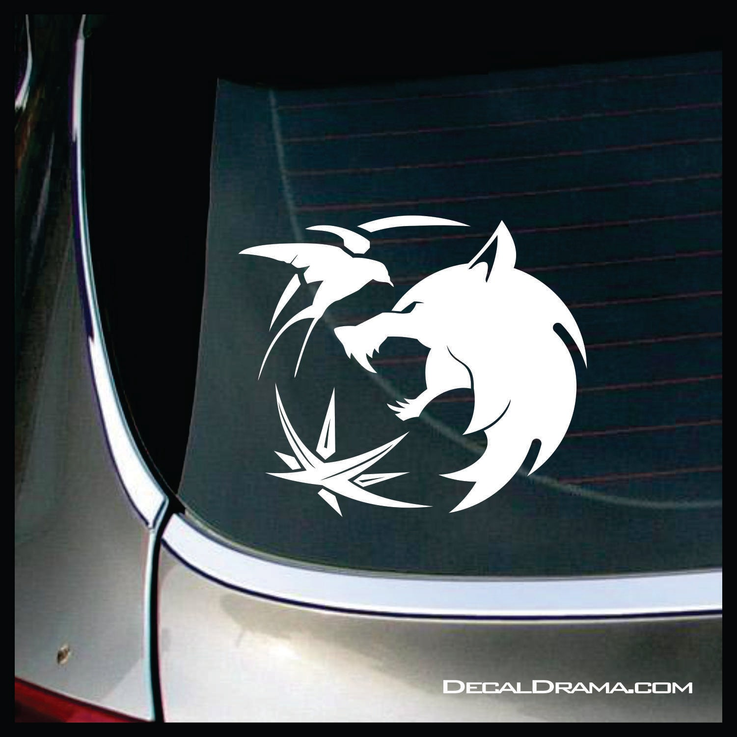 Witcher Wolf Compass Rose Sparrow Trinity, The Witcher Netflix-inspired Car/Laptop Decal
