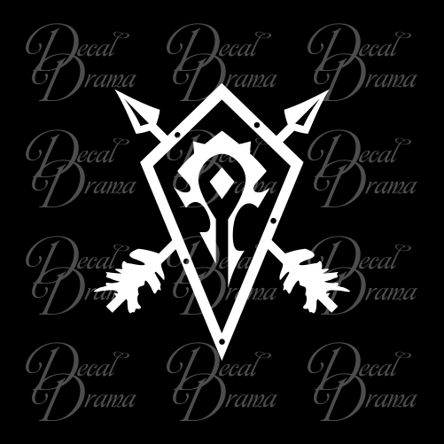 Horde Crest shield, WoW World of Warcraft-inspired Car/Laptop Decal