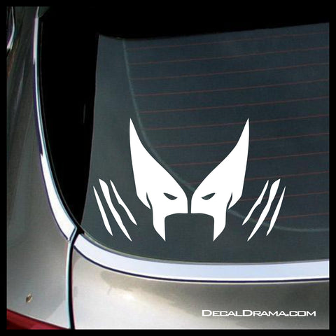 Wolverine emblem classic x men marvel comics inspired fan art vinyl car