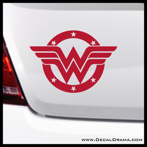 Wonder Woman Stars emblem, DC Comics-inspired Justice League Fan Art Vinyl Car/Laptop Decal