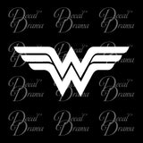 Wonder Woman Stripes emblem, DC Comics-inspired Fan Art Vinyl Car/Laptop Decal