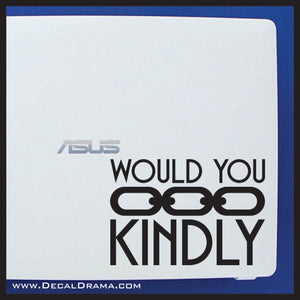 Would You Kindly chain, Bioshock-inspired Vinyl Decal