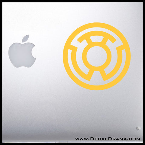 Yellow Lantern Corps - Sinestro (Fear) emblem Vinyl Car/Laptop Decal