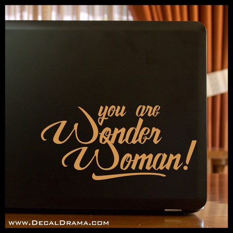 You are Wonder Woman, DC Comics-inspired Mirror Motivator Vinyl Decal