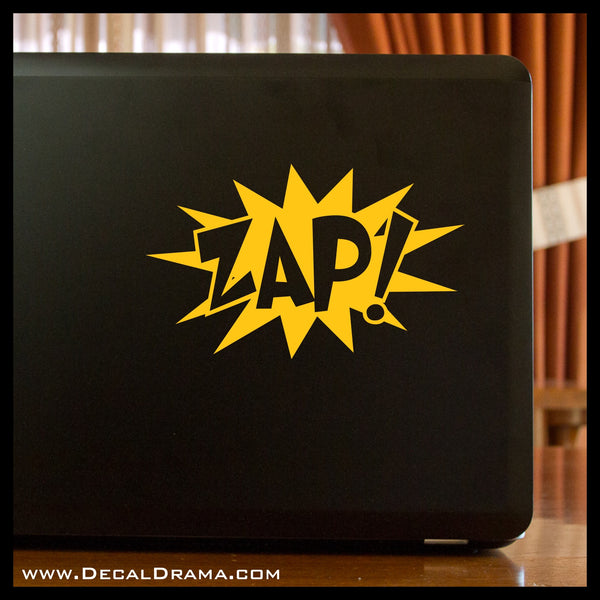 ZAP! Comic Book Exclamation Vinyl Car/Laptop Decal