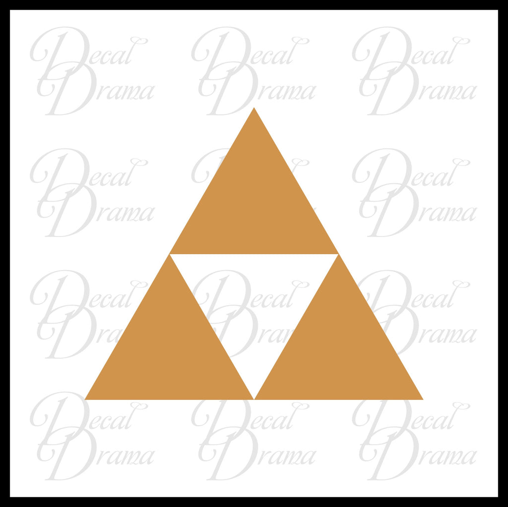 Triforce Symbol Legend Of Zelda Decal Vinyl Carlaptop Decal Decal