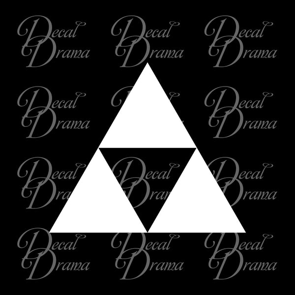Triforce symbol Legend of Zelda Decal Vinyl Car/Laptop Decal
