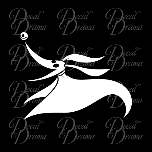 Zero, Jack Skellington's Dog, Nightmare Before Christmas-inspired Fan Art Vinyl Car/Laptop Decal