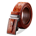 Solid Automatic Alligator Leather Belt