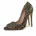 Handmade Exotic Glitter Sequins Pointed Toe Evening Dress High Heels