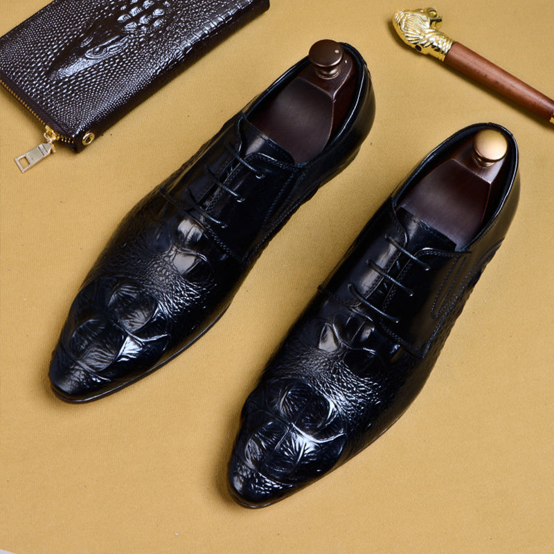 genuine leather oxford laces leather brogues Shoes