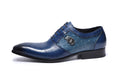 Leather Print Exotic Pattern Lace-Up Oxford Brogue Casual Shoes