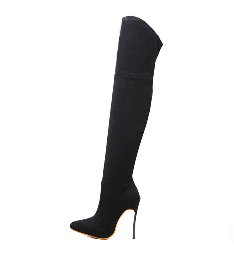 Exotic Texture Winter Fashion PU Over the Knee Thin High Heels  Boots