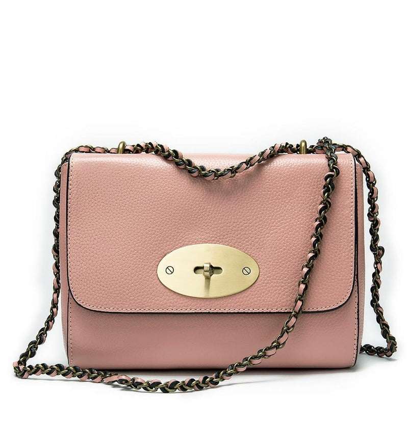 Soft Leather Chain Strap Flap Cover Crossbody Clutch Bag